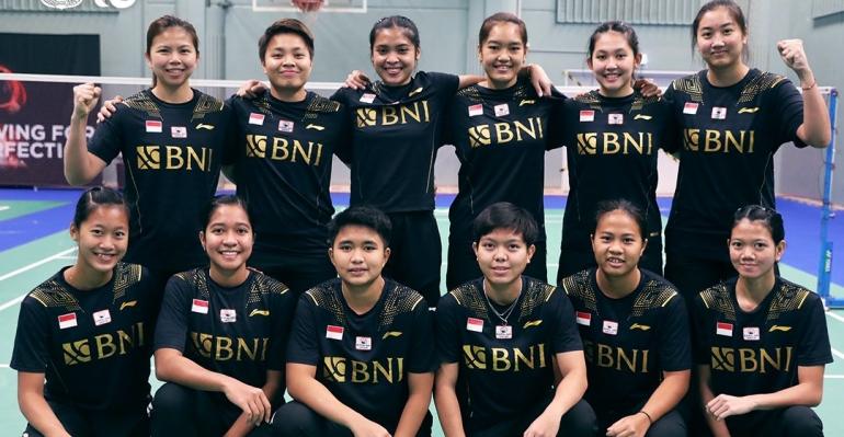 Tim Indonesia di Piala Uber 2021/ foto: PBSI-badmintonindonesia.org