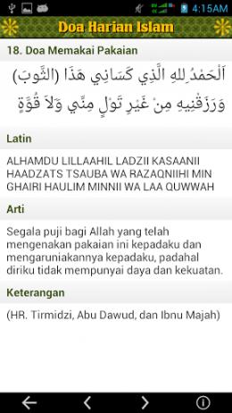 Tampilan Isi Doa Harian