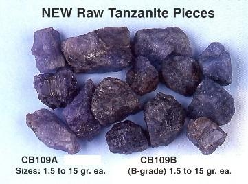 tanzanite mentah