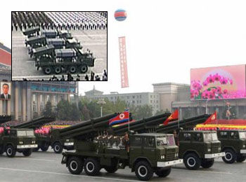 Rudal Korut yang mobile 120m dan mobile roket 122mm dengan laras 40