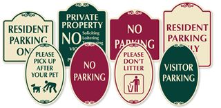 All SignatureSigns™ are available in four different color styles.