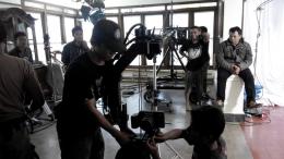 Memasang kamera TS3 Cine pada Jimmy Jib