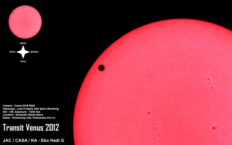 Transit Venus 2012 (kredit : Eko Hadi/kafeastronomi.com)