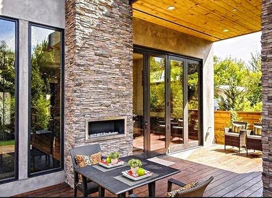 contoh gambar desain teras rumah minimalis terbaru 2015