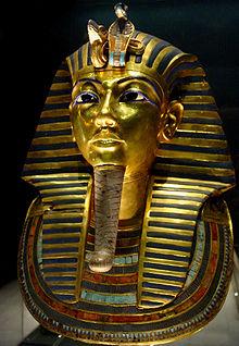 Topeng mumi Tutankhamun, ikon terpopuler untuk Mesir kuno di Museum Mesir (Wikipedia.org)