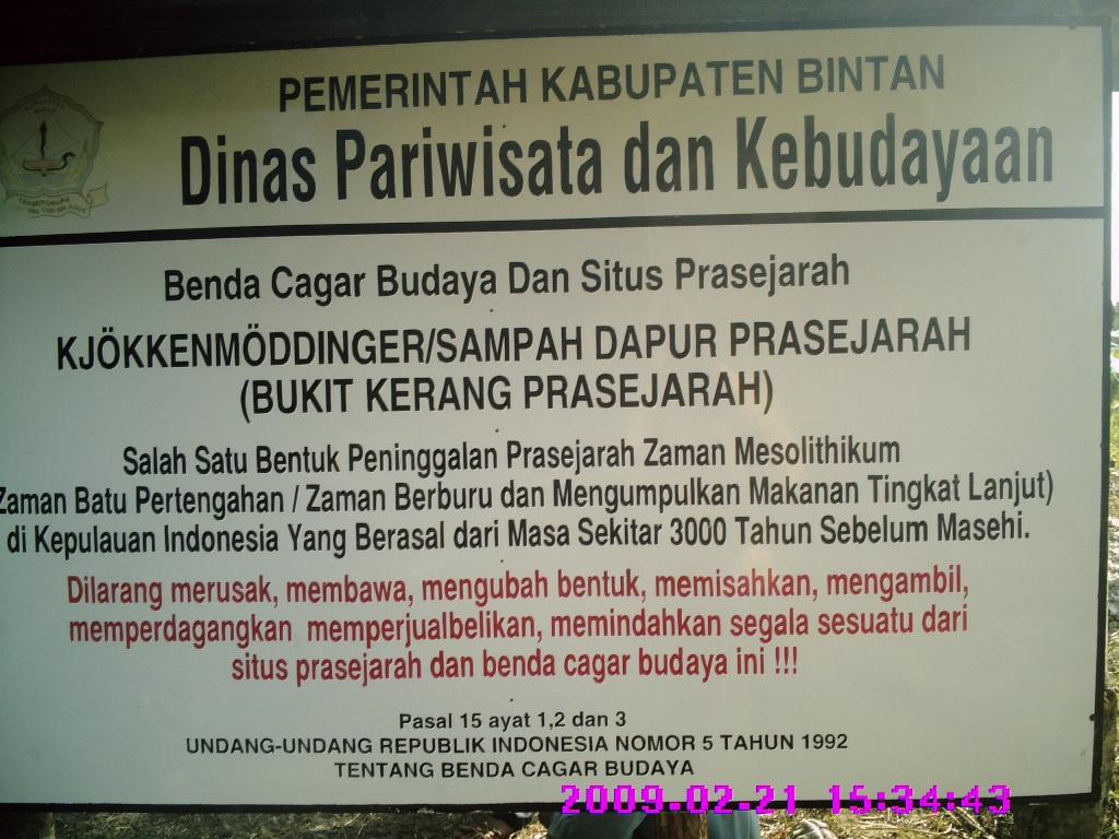 Pengumunan dari Dinas Pariwisata dan Kebudayaan Kabupaten Bintan