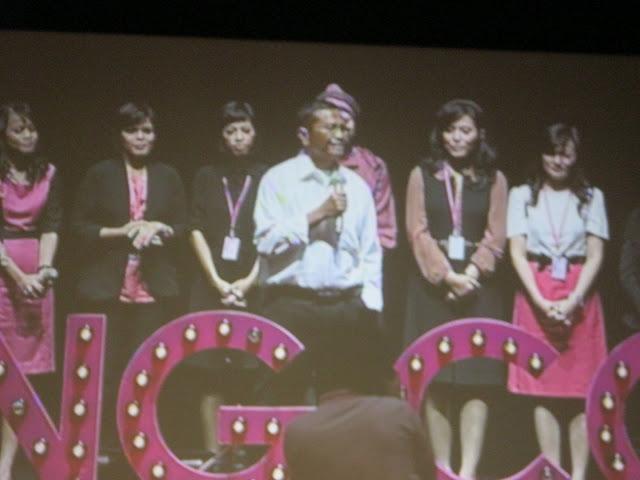 Bapak Dahlan Iskandar memberi sambutan dan wejangan
