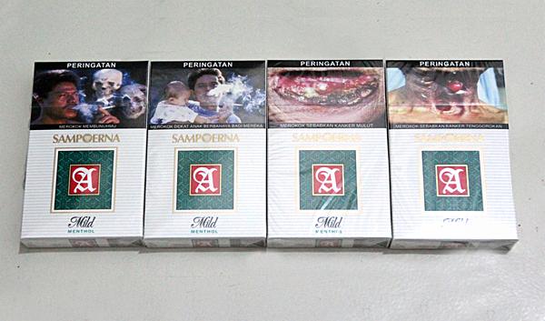 kemasan rokok dengan gambar seram sumber foto rokoknya beli di alfa