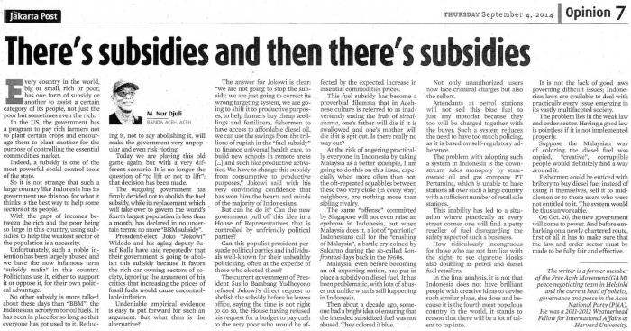 essay tentang penghapusan subsidi bbm