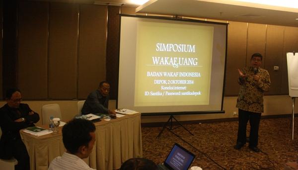Simposium Wakaf Uang Badan Wakaf Indonesia, Kamis (2/10/2014)