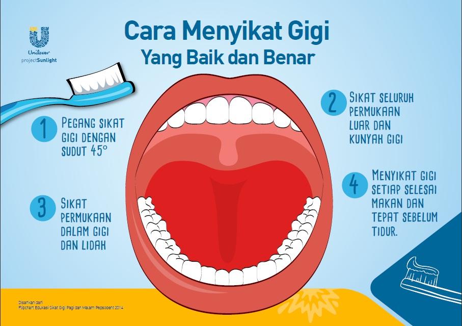 Cara Sikat Gigi Yang Benar Cara Menyikat Gigi Yang