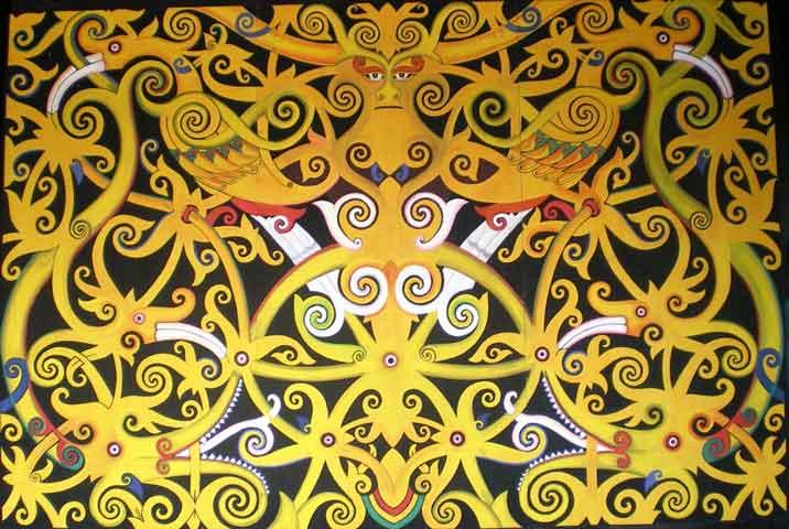 Sketsa Batik Kalimantan oleh Hantus Tommy  Kompasianacom