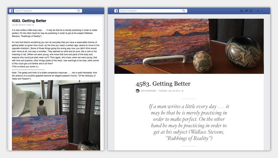 Fitur Note lama (kiri), Fitur Note baru (kanan) di Facebook - ilustrasi: newsroom.facebook.com
