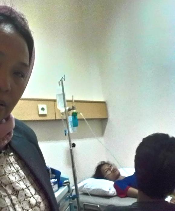 (Pasien bernama Elin Rahmawati, warga Tangerang, yang diadvokasi Yuli Supriati.   Foto: FB Yuli Supriati)
