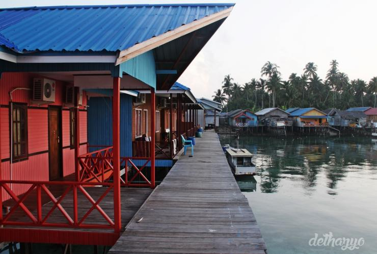 Tampak depan fisheries cottage/ dethazyo