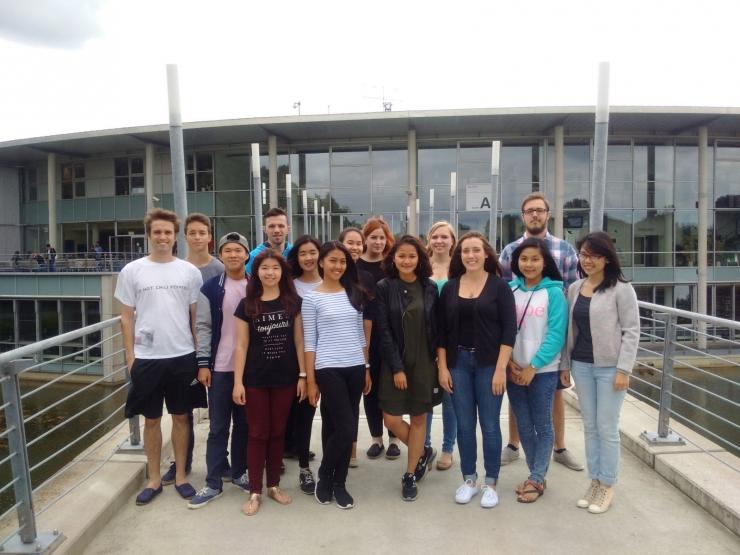 13 Mahasiswa Pertukaran Pelajar di Westfälische Hochschule - Kampus Bocholt, Jerman.