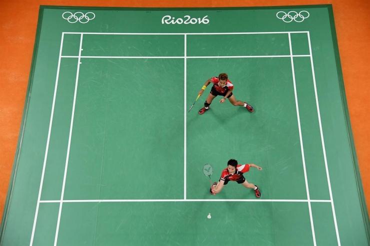 Aksi Tontowi Ahmad/Liliyana Natsir di Olimpiade Rio (sumber: http://www.rio2016.com/)