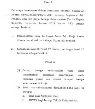 Pro Dan Kontra Apoteker Terhadap Permenkes Nomor 31 Tahun