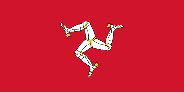 Bendera Isle of Man. Sumber: Wikipedia.org