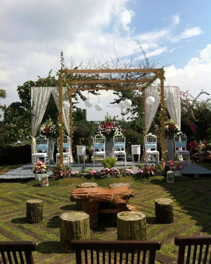 pesta pernikahan sederhana dan unik dengan konsep outdoor wedding 57ed ffdfd751e