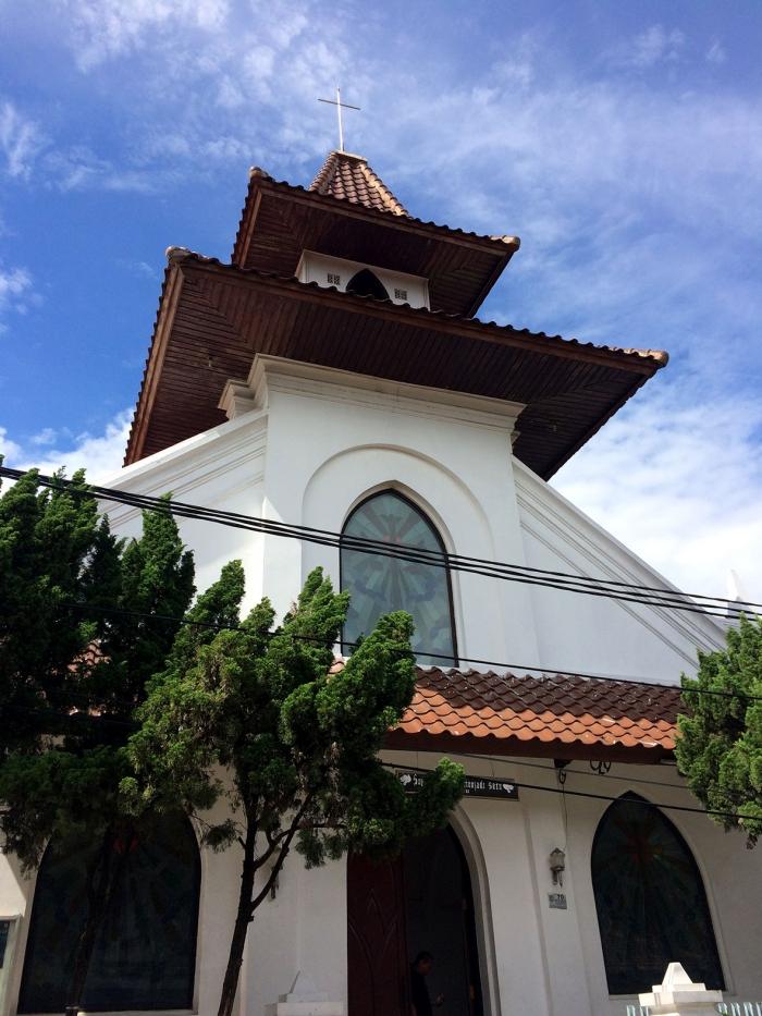 Gereja GBIP Immanuel di Jalan Pemuda yang dibangun pada tahun 1700-an. (Foto: Diella Dachlan)