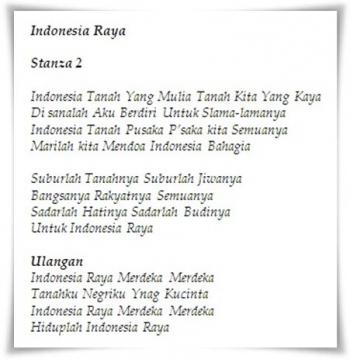Lirik Lagu Indonesia Pusaka 2 Stanza