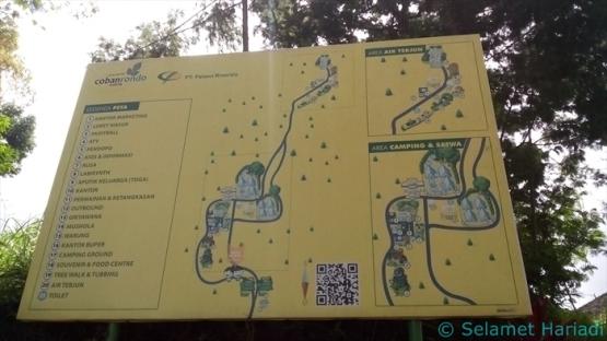 Peta Pilihan Destinasi Wisata di Air Terjun Coban Rondo (dok.pribadi)