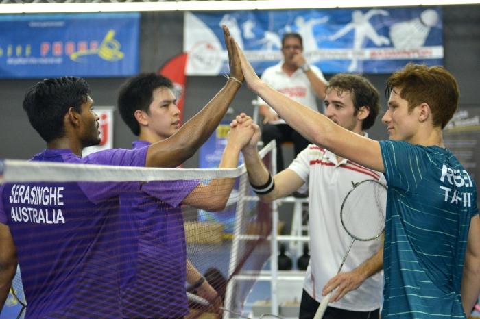 Remi Rossi dan Leo Cucuel dari Tahiti (kanan) saat bertanding di Oceania Championship 2016 (sumber foto: http://websites.sportstg.com)