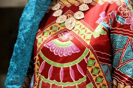Batik Etnik Tangsel motif Kipas Istana Kesultanan Banten. (Foto: Gapey Sandy)