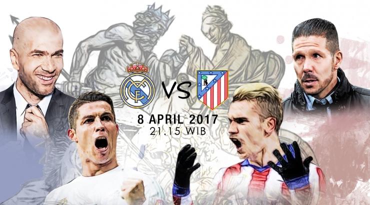 Real Madrid Vs Atletico Madrid, Sabtu, 8 April 2017. (Desain Trie Yas)