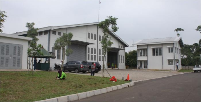 Bagian depan pabrik pengolah sampah dikawasan elit Summarecon di Desa Medang, Pagedangan, Tangerang/Dokumen Pribadi