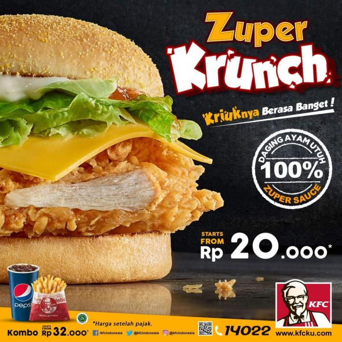 5 Alasan Burger KFC Zuper Krunch Layak Dinikmati oleh ...