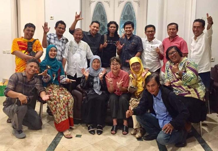 Buka bersama Puasa Ramadhan komunitas alumni Stikosa/AWS di Jakarta, Kamis (8/6/2017)