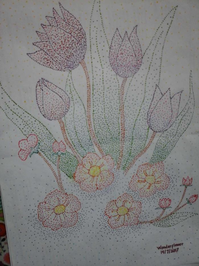 Pointillism Mari Mewarnai Dengan Titik Oleh Tutut Setyorinie