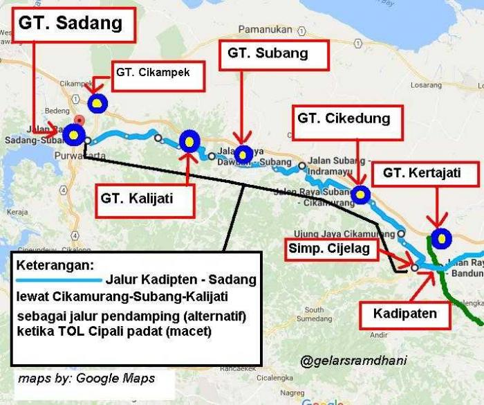Jakarta Via Tol Cipali Oleh