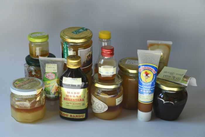 Berbagai jenis madu dari berbagai wilayah di dunia yang diteliti: Sumber: Blaise Mulhauser, ABC
