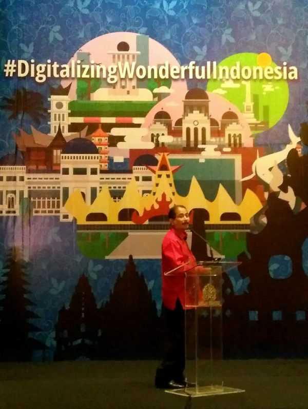 Menteri Pariwisata Arief Yahya ketika berbicara dalam seminar Digitalizing Wonderful Indonesia, 14 Desember 2017 di Jakarta. (Foto: Gapey Sandy)