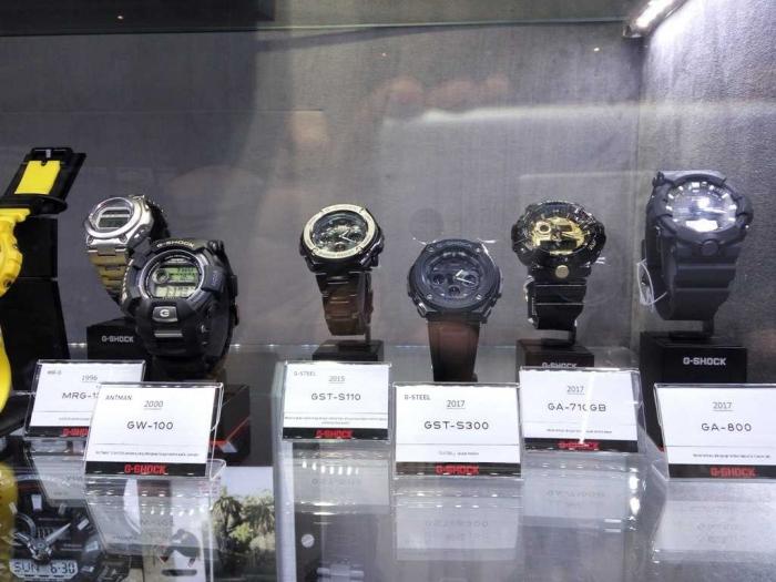 Jam tangan G-SHOCK dari tahun ke tahun (dok.windhu)