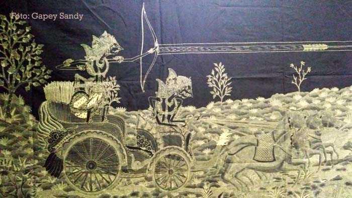 Batik Karno Tanding koleksi Dudung M Romadhon dari Batik Dudung, Pekalongan. (Foto: Gapey Sandy)