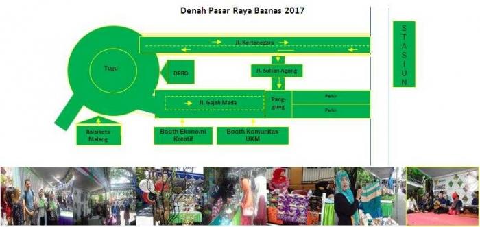 Denah Lokasi Pasar Raya Baznas 2017/Dokumentasi Bolang