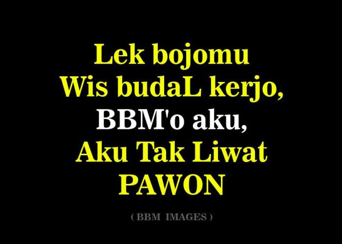 Gambar Keren Bahasa Jawa