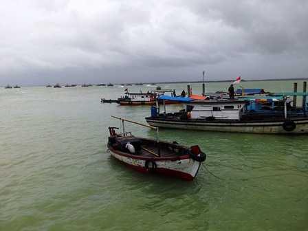 Kapal Nelayan Berlabuh di Liwungan (Dokpri)