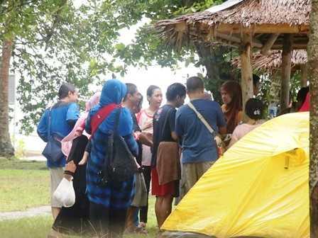 Saung dan Tenda Rombongan (Dokpri)