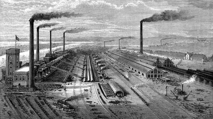 Revolusi industri yang muncul antara abad ke 18 sampai ke 19 sebagai awal penyebab global warming (Image Source : www.sekelumitpandang.com)