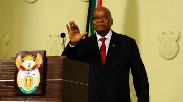 Akspersi Jacob Zuma ketika mengumumkan pengunduran dirinya. Photo: a57.foxnews.com