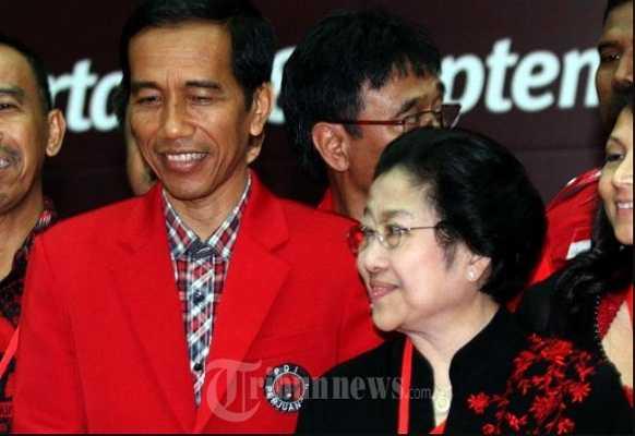 Presiden Jokowi dan Ketum PDIP Megawati Soekarnoputri (Foto Tribunnews)