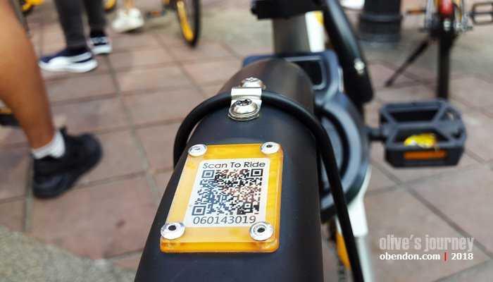 Sharing bike yang dikelola oleh oBike Malaysia (dok. koleksi pribadi)