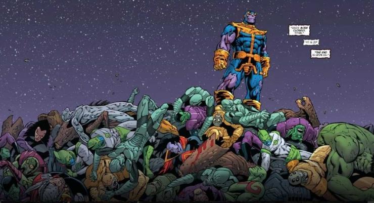 Deskripsi : Film Avangers : Infinity War membuat para super heroes mendapat lawan yang berat yaitu Thanos I Sumber Foto : superherostuff.com
