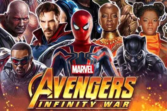 Poster film Infinity War (Flickering Myth)