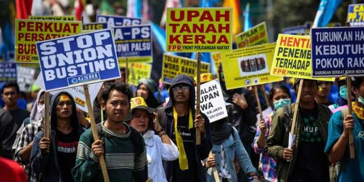 May Day 2018. Foto: KOMPAS.com/Garry A. Lotulung